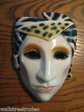 Vintage 80s Clay Art San Francisco Ceramic Punk New Wave Zebra face mask