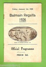 #D167.  1926  BALMAIN  REGATTA PROGRAM, 1925 START COVER