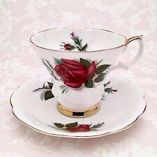 Royal Albert Tea Cup & Saucer Patricia Sweetheart Roses Series Lyric Shape