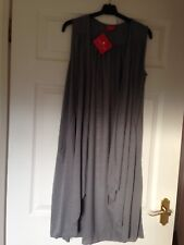 LADIES LONG LINE WAISTCOAT FROM TOGETHER SIZE XS WITH TWO POCKETS SILVER GREY