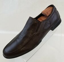 Bacco Bucci Loafers Apron Toe Mens Brown Leather Slip On Shoes Size 10.5