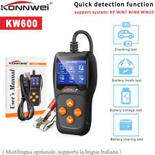 KONNWEI KW600 Car Battery Tester 12V Digital Auto Battery Analyzer 2000CCA A1G3