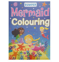 QUALITY A4 Children's Girls MERMAID Colouring Book 96 PAGES PERFORATED FUN