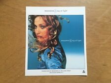 "MADONNA  ""Ray Of Light "" LP ORIGINAL 1998 WEA (UK) RECORDS HANDBILL / FLYER"