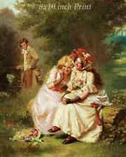 Man Tickle Woman 8x10 Print 1271 A Surprise for the Gardener by Hugo Salmson