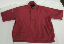 Sun Mountain Stormtight 1//2 Zip Long Sleeve Waterproof Pullover red