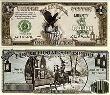 American Eagle w/Paul Revere Trillion Dollar Novelty Money