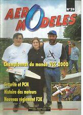 AERO MODELES N°29 - HISTOIRE DES MOTEURS - AEROMODELISME EN COLONIE - PCM