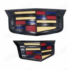 Black Color Cadillac Logo Car Front&Rear Badge Emblem for Xts Xt6 Xt5 Ats (2Pcs) (Fits: Cadillac)