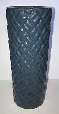 "Elegant Expressions  By Hosley 12"" Blue Weave Ceramic Vase NWT"