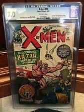 X-MEN #10 CGC 7.0 FN/VF 1ST SILVER AGE APP OF KA-ZAR KIRBY COVER (ID 4223)