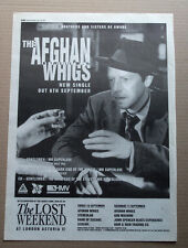 THE AFGHAN WHIGS - GENTLEMEN MR SUPERLOVE ORIGINAL magazine ADVERT POSTER 1993