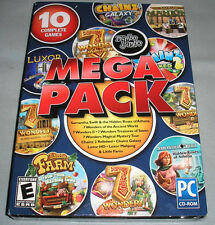 Mumbo Jumbo 10-Video Game Mega Pack - PC Computer CD 7 Wonders/Luxor/More - NEW!