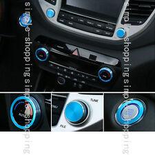 5x Alloy Inner air-condition Full Ring Cover Trim Blue For Hyundai Tucson 16-17