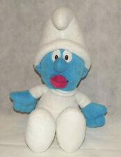 """The Smurfs Baby Smurf Plush Soft Toy Teddy Approx 12"""" Seated Free Post"""