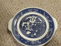 Blue Willow Ware by Royal China Cake Plate Serving Platter w/ Handles Ironstone
