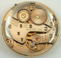 Zodiac 58 Complete Running Wristwatch Movement - Spare Parts / Repair
