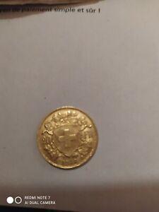 """1 pièce de 20 Francs Suisse 1935 LB  """"Qualité """"(or)"""
