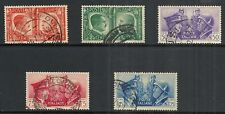 ITALY SCOTT 414 - 418 USED PARTIAL SET - 1941 AXIS ISSUE  CAT $21.40