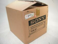 """NEW Sony PVM-97 9"""" High Resolution Monochrome Black and White CRT Video Monitor"""