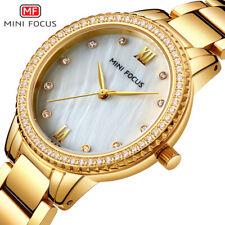 MiniFocus Women Quartz Fashion Elegant Watch Stainless Steel Crystal Gold 2019