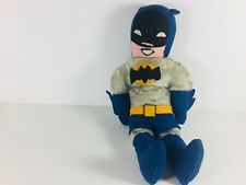 "Vintage RARE 1960s Batman Plush Felt Stuffed Doll DC Comics Toy 16"" Collectible"