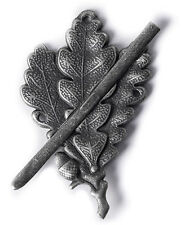 WW2 GERMAN ARMY SKI SNIPER OAK LEAF METAL CAP BADGE-35760