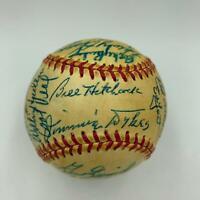 1959 Detroit Tigers Team Signed Baseball 29 Strong Sigs With JSA COA Al Kaline