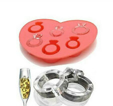Ring Mold Silicone Ice Tray Diamond Design Cake Clay Fondont Party Bling Wedding