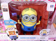 "Thinkway Toys Despicable Me 2 Dm 2 Dancing Minion Dave 8"" Action Figure"