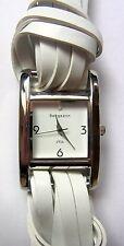 Armband Uhr, Damen Uhr, BERGMANN Modell 1916, weißes Armband, PU-Leder