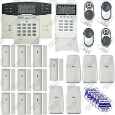 WIRELESS HOME SECURITY SYSTEM - LCD BURGLAR FIRE ALARM HOUSE AUTO-DIALER NEW A13