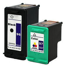 2PKs HP 96 97 Ink Cartridge C8767WN C9363WN HP96 HP97 For Officejet 7210v 7310