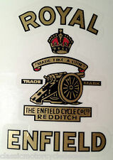 "Royal enfield bullet india ""fait comme une arme"" decal"