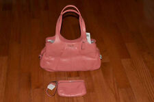 NWT Coach $498 19258 Perforated Leather Lexi Handbag & $78 Wristlet F47330 Coral