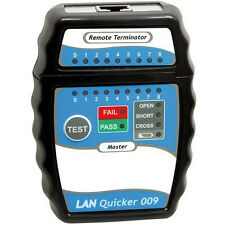 Quick RJ45 CAT5 CAT5e CAT6 Network Ethernet Cable Tester RJ 45 LAN (New)