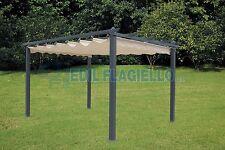 Gazebo giardino 3x4 m PALI ALLUMINIO copertura scorrevole  Pergola  60033 copert