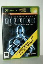 THE CHRONICLES OF RIDDICK ESCAPE FROM BUTCHER BAY USATO XBOX ED UK PAL FR1 48029