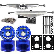 LONGBOARD Trucks/Wheels/Bearings SILVER 6.0 + BIGFOOT 76MM CRUISERS BLUE