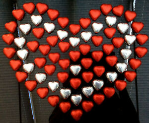 Red or Silver Foiled Caramel Filled Chocolate Hearts Party Bag Fillers Wedding