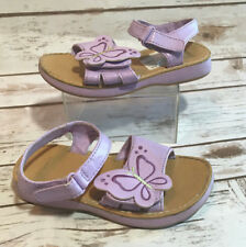 Gymboree Butterfly Blossoms Girls 10 Purple Sandals Shoes Butterflies Adj. Strap