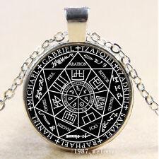 Photo Cabochon Glass Silver Pendant Necklace (Seven Archangels)
