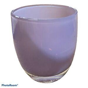 glassybaby Grammy Purple Hand Blown Art Glass Votive Candle Holder 1367