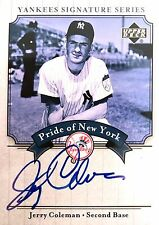 Jerry Coleman 2003 Upper Deck Yankees Signature Series Autograph Yankees Padres