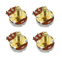 New 4pcs B500K Pots Guitar Bass Potentiometers Volume Pots Gold 18mm Split Shaft