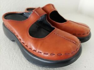 Dansko Clogs Mary Janes Red Orange Size US 5.5-6 Eur 36