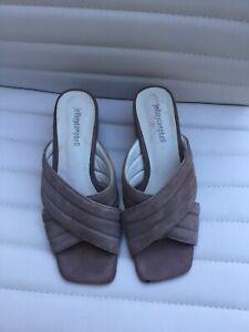 Jeffrey Campbell Womens Mules Shoes SZ 8 Peep Toe Slip On