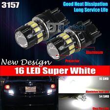 2X 3157 High Power 5630 Chip 6000K White Backup Reverse LED Lights Bulbs