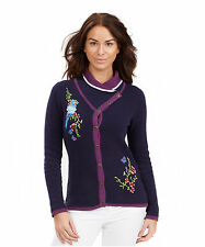 Women's Hip Length Button Cotton Medium Knit Jumpers & Cardigans