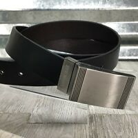 Steve Madden Pin Buckle Black Leather Belt Size 38